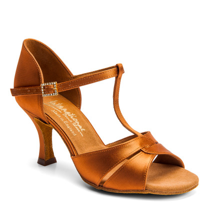 """1018 - Tan Satin - Pictured on the 2.5"""" IDS heel."""