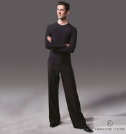 Men's Latin Practice Trousers - Black