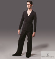 Men's Belted Latin Top - Black
