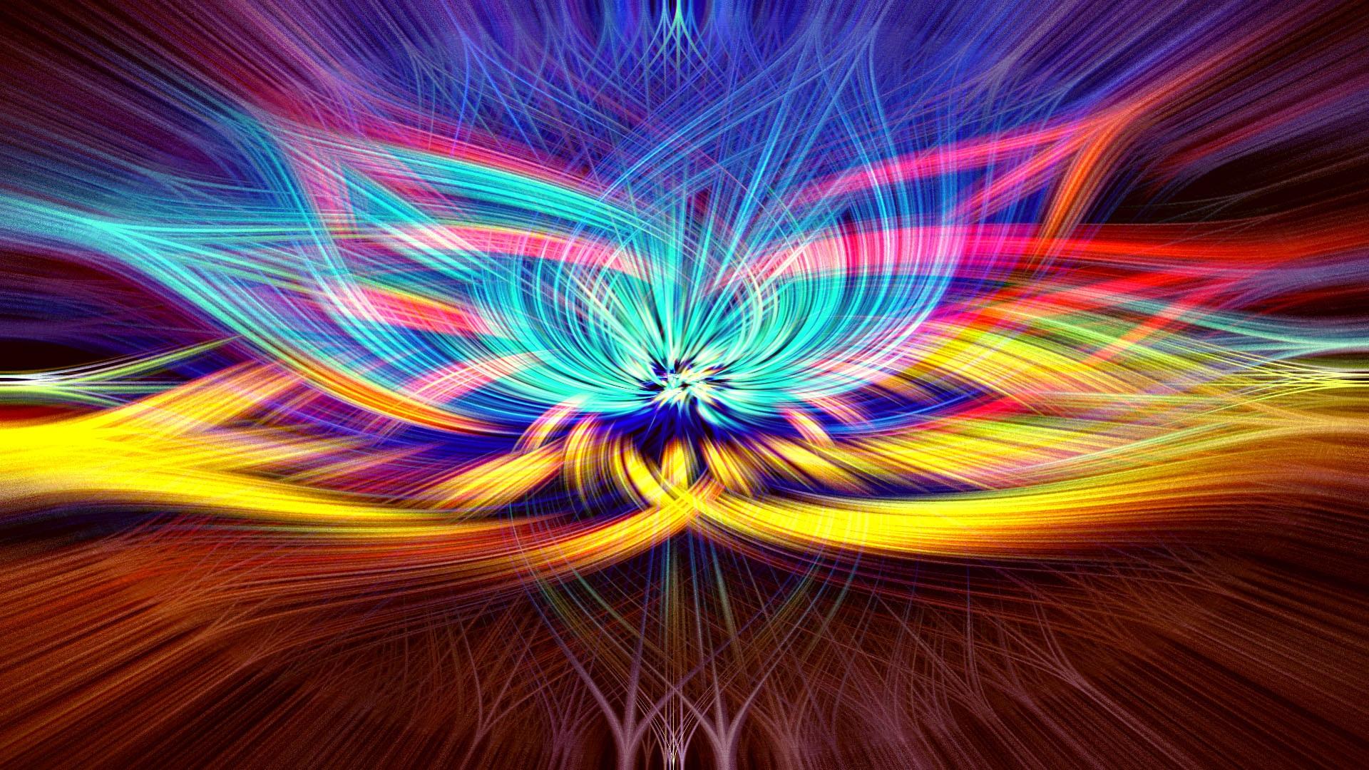 Vibrant chakra healing colors.