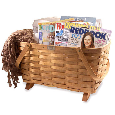 Peterboro Traditional Magazine Storage Basket