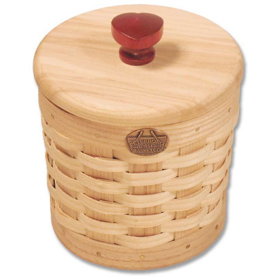 Peterboro Trinket Basket with Red Wooden Heart Knob
