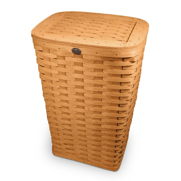 Peterboro Tall Laundry Hamper Basket With Woven Lid