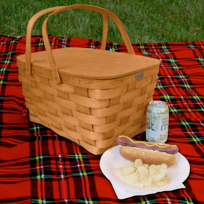 Peterboro Family Picnic Basket For 4