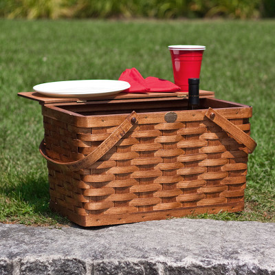 Peterboro Classic Picnic / Storage Furniture Finished Basket