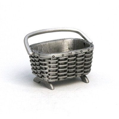 Fine Pewter Peterboro Magazine Basket