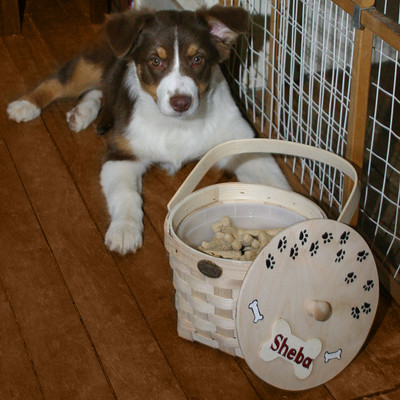 Peterboro Hand-Painted Personalized Dog Biscuit Basket