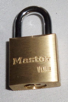 Master small brass padlock