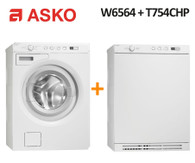 ASKO W6564 7KG WASHER + ASKO T754CHP 7KG HEAT PUMP DRYER