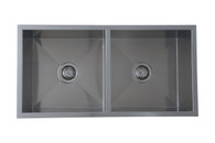 INTERCHANGE UPTOWN SQUARE DOUBLE BOWL SINK - 250mmD - UTS/UTR2