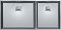 FRANKE CENTINOX MINIMALIST 340MM DOUBLE BOWL SINK - CMX220-50/34