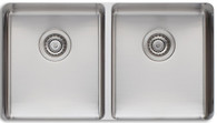 OLIVERI SONETTO DOUBLE BOWL SINK WITH DRAIN TRAY - SN1063U