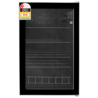 HUSKY 130L GLASS BAR FRIDGE - HUS-CNSIL