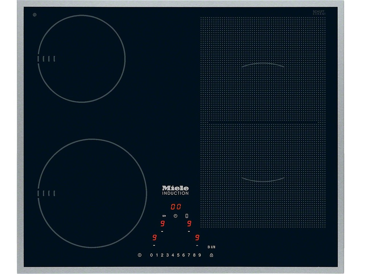 miele 60cm induction cooktop with powerflex zone km6304. Black Bedroom Furniture Sets. Home Design Ideas