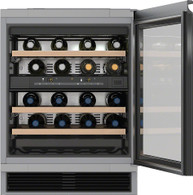 MIELE 34 BOTTLE CAPACITY UNDERBENCH WINE CELLAR - 2 TEMP ZONES - KWT6321UG