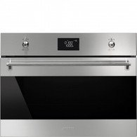SMEG 45CM CLASSIC BUILT IN MICROWAVE & GRILL - SFA4390MX - CLEARANCE*