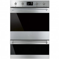SMEG 60CM CLASSIC STAINLESS STEEL BUILT IN PYROLYTIC DOUBLE OVEN - DOSPA6395X