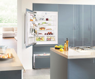 LIEBHERR 585L INTEGRATED BOTTOM MOUNT FRIDGE/FREEZER WITH BIOFRESH - 91CM WIDE - ECBN6156