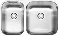 FRANKE STEEL QUEEN 1 1/2 BOWL UNDERMOUNT SINK - SQX120C