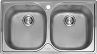 FRANKE AURORA DOUBLE BOWL SINK - PFX620B