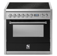 STEEL 90CM GENESI FREESTANDING MULTI FUNCTION OVEN  - INDUCTION COOKTOP - G9F-6I