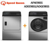SPEED QUEEN AFNE9BSS 10KG WASHER + ADEE9BSS/ADGE9BSS 9KG DRYER