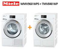 MIELE WMV960 WPS Tdos 9KG WASHER  + TMV840 WP 9KG HEAT PUMP DRYER
