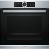 BOSCH 60CM PYROLYTIC OVEN - 13 FUNCTION - HBG675BS1B