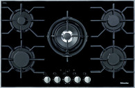 MIELE 80CM GAS ON BLACK GLASS COOKTOP - KM3034
