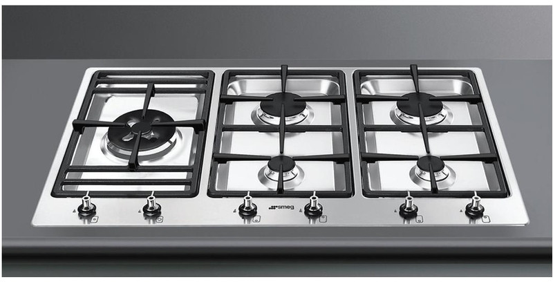 smeg 90cm flush gas cooktop psa906 4 berloni appliances. Black Bedroom Furniture Sets. Home Design Ideas