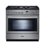 FALCON 90CM S/STEEL PROFESSIONAL FX PYROLYTIC DUAL FUEL FREESTANDING OVEN - PROP90FXPDFSS/CH