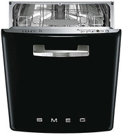 SMEG 60CM RETRO BLACK BUILT IN DISHWASHER -  DWIFABNE2
