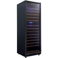 HUSKY 168 BOTTLE BLACK DUAL ZONE WINE CABINET - HUS-WC168D-BK-ZY