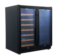HUSKY 84L BLACK DUAL ZONE WINE CABINET & BEVERAGE CENTRE - HUS-WC66B-BK-ZY