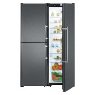 LIEBHERR 726L BLACK STEEL SBS PAIR - SBSbs7353 - FULL FRIDGE WITH BIO FRESH & HALF FREEZER