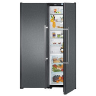 LIEBHERR 707L BLACK STEEL SBS PAIR - SBSbs7253 - FULL FRIDGE WITH BIO FRESH & HALF FREEZER