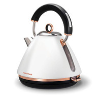 MORPHY RICHARDS WHITE ACCENTS ROSE GOLD TRADITIONAL PYRAMID KETTLE - 102108