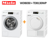 MIELE WDB030 7KG WASHER + TDB130 WP 7KG HEAT PUMP DRYER