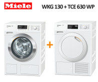 MIELE WKG130 8KG WASHER + TCE630 WP 9KG HEAT PUMP DRYER