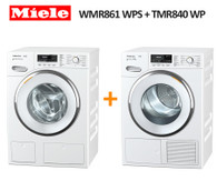 MIELE WMR861 WPS 9KG WASHER + TMR840 WP 9KG HEAT PUMP DRYER