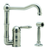 NICOLAZZI TRADITIONAL OFF SET SINGLE LEVER TAP WITH HAND SPRAY - 3407WS