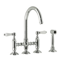 NICOLAZZI GOOSENECK BRIDGE TAP WITH HAND SPRAY - 1460WS