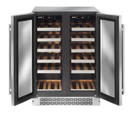 ILVE 36 BOTTLE TWO DOOR DUAL ZONE WINE CELLAR - ILWD36X