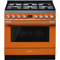 SMEG PORTOFINO 90CM DUAL FUEL FREESTANDING PYROLYTIC OVEN - CPF9GP + Colour