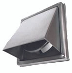 KENSINGTON HOODED STAINLESS STEEL WALL VENT - 150mm - HVSS150