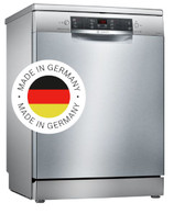 BOSCH S/STEEL FREESTANDING DISHWASHER - SERIES 6 - SMS66JI01A