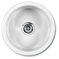 SHAWS CLASSIC ROUND 460mmD WHITE FIRECLAY SINK - SCR0460W