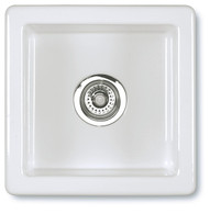 SHAWS CLASSIC SQUARE 460mmD WHITE FIRECLAY SINGLE BOWL SINK - SCSQ460WH