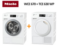 MIELE WCE670 8KG TWINDOS WASHER  + TCE630 WP 9KG HEAT PUMP DRYER