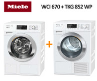 MIELE WCI670 8KG TWINDOS XL WASHER  + TKG852WP 9KG HEAT PUMP DRYER
